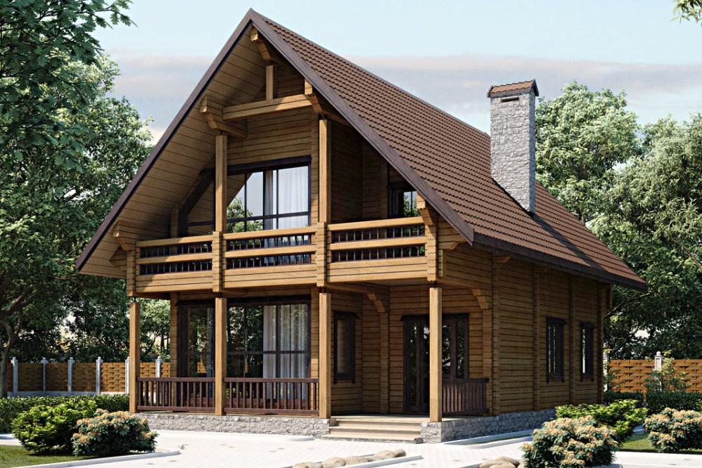 Самые красивые деревянные дома с мансардой фото